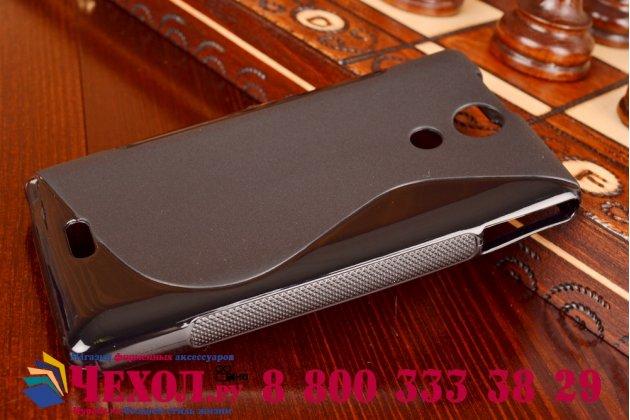 Фирменная ультра-тонкая полимерная из мягкого качественного силикона задняя панель-чехол-накладка для Sony Xperia ZR /ZR LTE C5502/C5503 черная