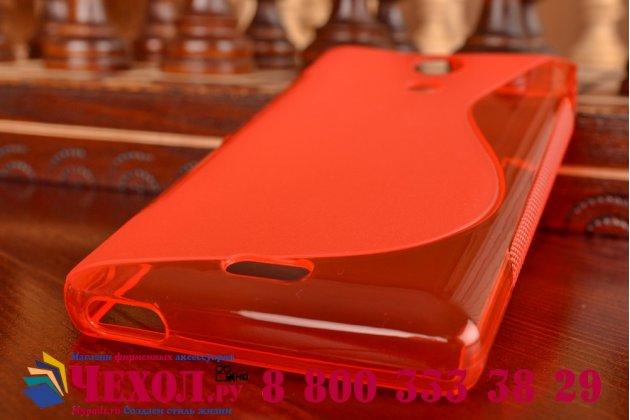 Фирменная ультра-тонкая полимерная из мягкого качественного силикона задняя панель-чехол-накладка для Sony Xperia ZR красная