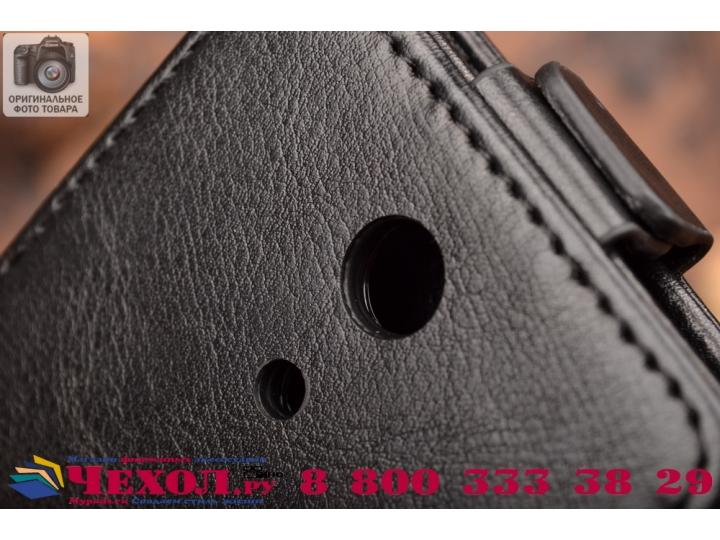 Фирменный оригинальный вертикальный откидной чехол-флип для Sony Xperia ZR C5503 черный кожаный
