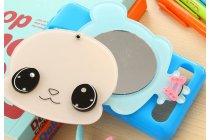 """Фирменная задняя панель-чехол-накладка с объёмным 3D изображением и встроенным зеркальцем для Sony Xperia E1/ E1 Dual D2005/ D2105 """"тематика большая голова"""""""