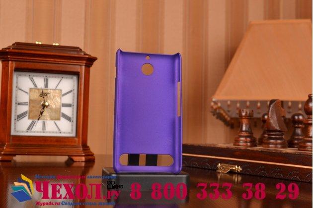 Фирменная задняя панель-крышка-накладка из тончайшего и прочного пластика для Sony Xperia E1/ E1 Dual D2005/ D2105 фиолетовая