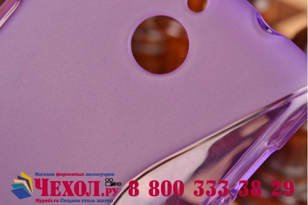 Фирменная ультра-тонкая полимерная из мягкого качественного силикона задняя панель-чехол-накладка для Sony Xperia E1/ E1 Dual D2005/ D2105 фиолетовая