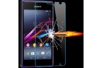 Фирменное защитное закалённое стекло премиум-класса из качественного японского материала с олеофобным покрытием для Sony Xperia E1/ E1 Dual D2005/ D2105