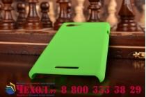 Фирменная задняя панель-крышка-накладка из тончайшего и прочного пластика для Sony Xperia E3/ E3 Dual D2203/D2212 зеленая