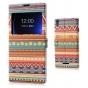 Фирменный чехол-книжка с безумно красивым расписным эклектичным узором на Sony Xperia T3 D5102/D5103 с окошком..