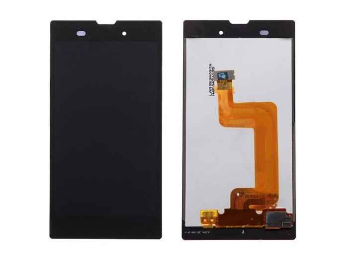 Фирменный LCD-ЖК-сенсорный дисплей-экран-стекло с тачскрином на телефон Sony Xperia T3 D5102/D5103 черный + га..