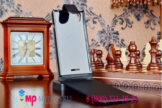 Фирменный вертикальный откидной чехол-флип для Sony Xperia T3 D5103 LTE 4G черный кожаный
