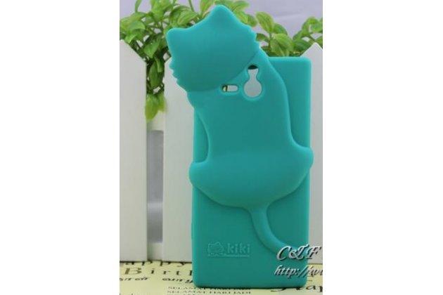 """Фирменная задняя панель-чехол-накладка с объёмным 3D изображением для Sony Xperia U ST25i """"тематика веселая Кошка"""""""