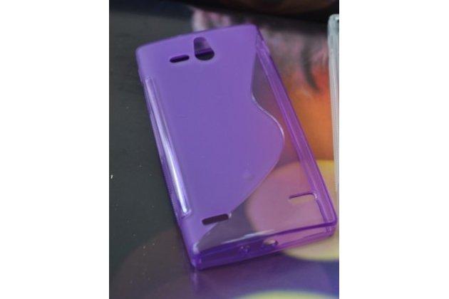 Фирменная ультра-тонкая полимерная из мягкого качественного силикона задняя панель-чехол-накладка для Sony Xperia U ST25i фиолетовая