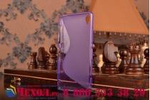 Фирменная ультра-тонкая полимерная из мягкого качественного силикона задняя панель-чехол-накладка для Sony Xperia Z3 D6603/ Z3 Dual D6633 фиолетовая