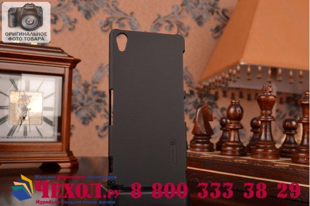 Фирменная задняя панель-крышка-накладка из тончайшего и прочного пластика для Sony Xperia Z3 D6603/ Z3 Dual D6633 черная