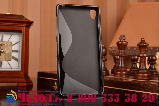 Фирменная ультра-тонкая полимерная из мягкого качественного силикона задняя панель-чехол-накладка для Sony Xperia Z3 D6603/ Z3 Dual D6633 черная