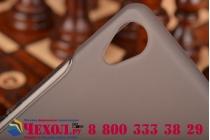 Фирменная ультра-тонкая полимерная из мягкого качественного силикона задняя панель-чехол-накладка для Sony Xperia Z3 D6603/ Z3 Dual D6633 серая