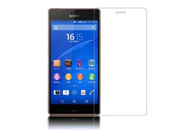 Фирменная оригинальная защитная пленка для телефона Sony Xperia Z3 D6603/ Z3 Dual D6633 глянцевая