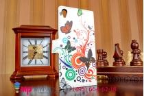 """Фирменный уникальный необычный чехол-книжка для Сони Иксперия Z 3 Д6603/ З 3 Дуал Д6633 """"тематика цветок Сакуры"""""""