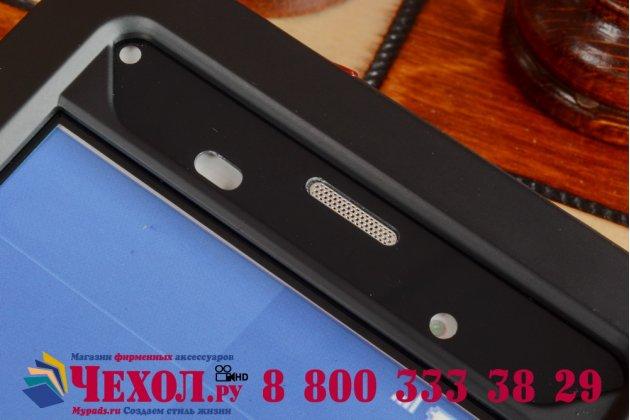 Неубиваемый водостойкий противоударный водонепроницаемый грязестойкий влагозащитный ударопрочный фирменный чехол-бампер для Sony Xperia Z3 D6603/ Z3 Dual D6633  цельно-металлический со стеклом Gorilla Glass