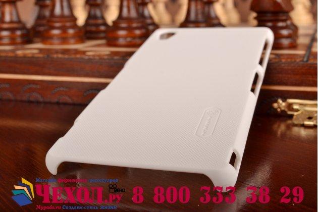 Фирменная задняя панель-крышка-накладка из тончайшего и прочного пластика для Sony Xperia Z3 D6603/ Z3 Dual D6633 белая