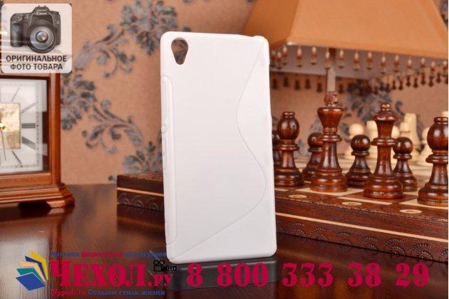 Фирменная ультра-тонкая полимерная из мягкого качественного силикона задняя панель-чехол-накладка для Sony Xperia Z3 D6603/ Z3 Dual D6633 белая