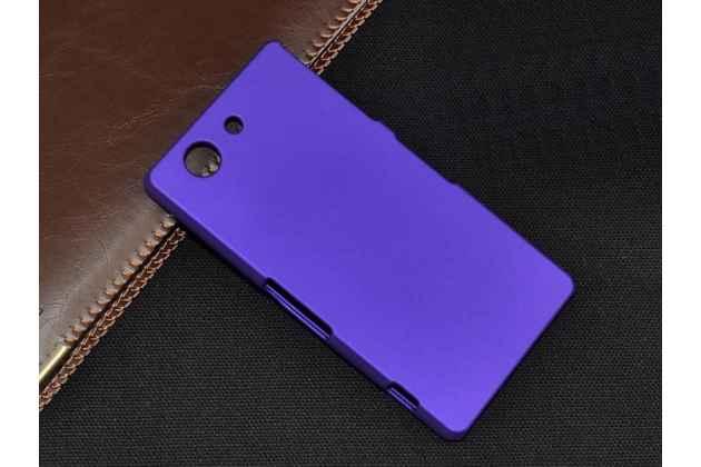 Фирменная задняя панель-крышка-накладка из тончайшего и прочного пластика для Sony Xperia Z3 Compact D5803 фиолетовая