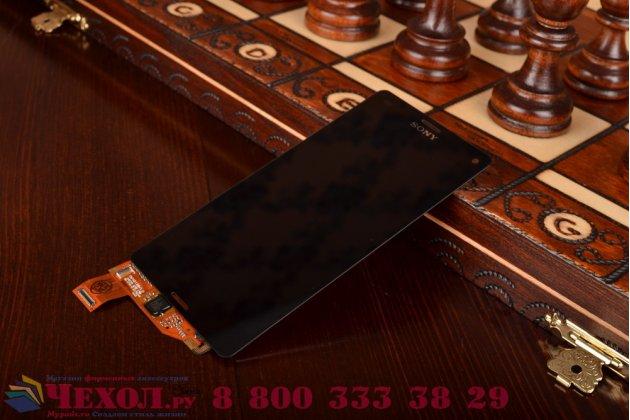 Фирменный LCD-ЖК-сенсорный дисплей-экран-стекло с тачскрином на телефон Sony Xperia Z3 Compact D5803 черный + гарантия