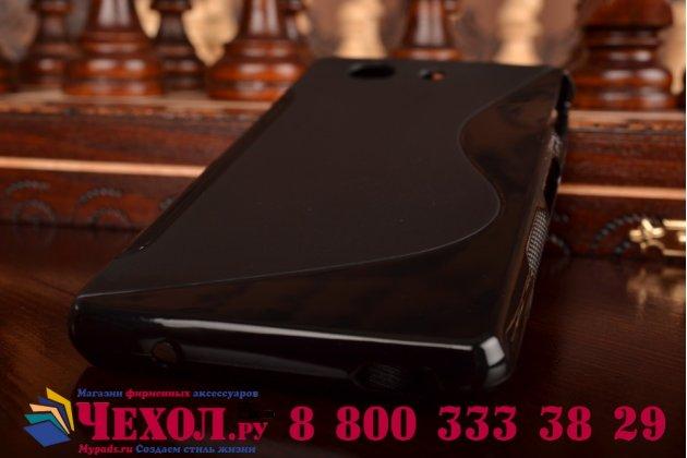 Фирменная ультра-тонкая полимерная из мягкого качественного силикона задняя панель-чехол-накладка для Sony Xperia Z3 Compact D5803 черная