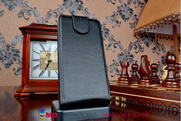 Фирменный вертикальный откидной чехол-флип для Sony Z3 Compact D5803 черный кожаный