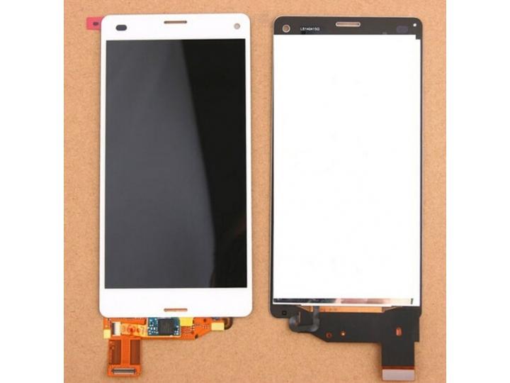 Фирменный LCD-ЖК-сенсорный дисплей-экран-стекло с тачскрином на телефон Sony Xperia Z3 Compact D5803 белый + г..
