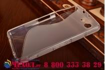 Фирменная ультра-тонкая полимерная из мягкого качественного силикона задняя панель-чехол-накладка для Sony Xperia Z3 Compact D5803 серая
