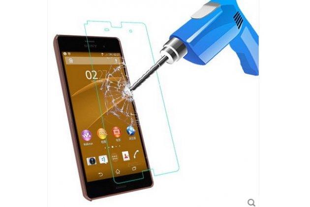 Фирменное защитное закалённое стекло премиум-класса из качественного японского материала с олеофобным покрытием для Sony Xperia Z3 Compact D5803
