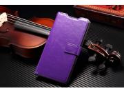 Фирменный чехол-книжка из качественной импортной кожи для Sony Xperia Z3 D6603/ Z3 Dual D6633 фиолетовый..