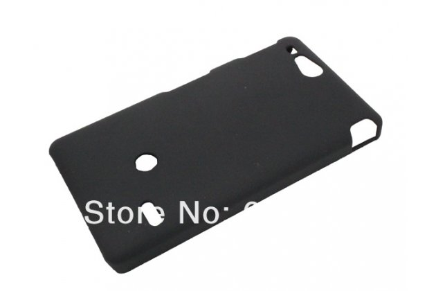 Фирменная задняя панель-крышка-накладка из тончайшего и прочного пластика для Sony Xperia go ST27i черная