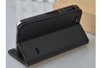 Фирменный чехол-книжка из качественной импортной кожи с подставкой застёжкой и визитницей для Sony Xperia go ST27i черный