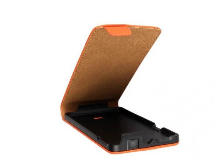 Фирменный оригинальный вертикальный откидной чехол-флип для Sony Xperia miro St23i черный кожаный..
