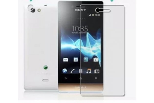 Фирменная оригинальная защитная пленка для телефона Sony Xperia miro St23i глянцевая