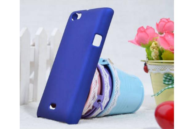 Фирменная задняя панель-крышка-накладка из тончайшего и прочного пластика для Sony Xperia miro St23i синяя
