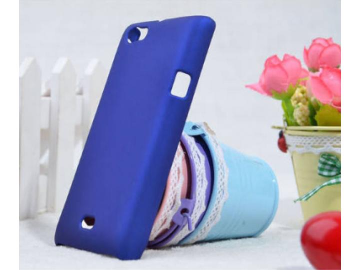 Фирменная задняя панель-крышка-накладка из тончайшего и прочного пластика для Sony Xperia miro St23i синяя..
