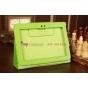 Чехол-обложка для Sony Tablet S зеленый кожаный..