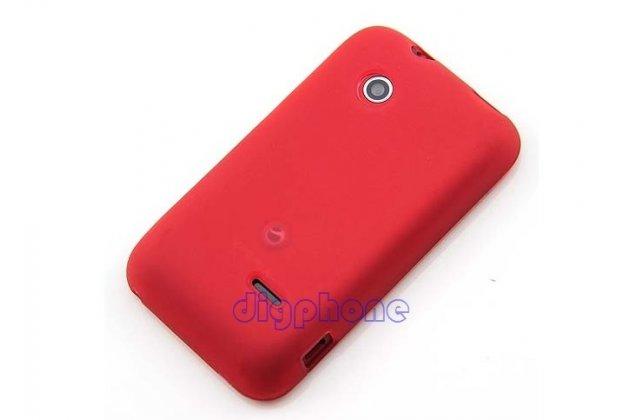 Фирменная ультра-тонкая полимерная из мягкого качественного силикона задняя панель-чехол-накладка для Sony Xperia tipo dual ST21i красная