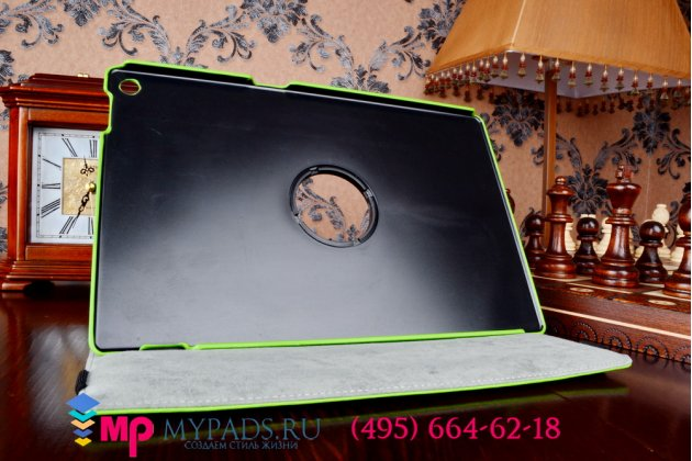 Чехол для Sony Xperia Tablet Z 1 (SGP311/312/321) поворотный роторный оборотный зеленый кожаный