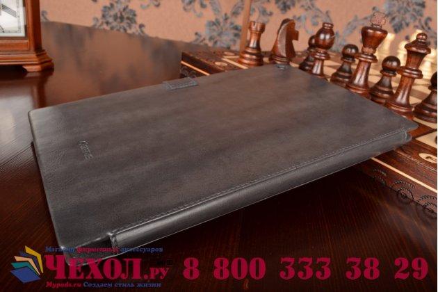 Фирменный уникальный чехол с мульти-подставкой бизнес класса ручной работы для Sony Xperia Tablet Z 1 (SGP311/312/321)  из качественной импортной кожи серый производство Вьетнам