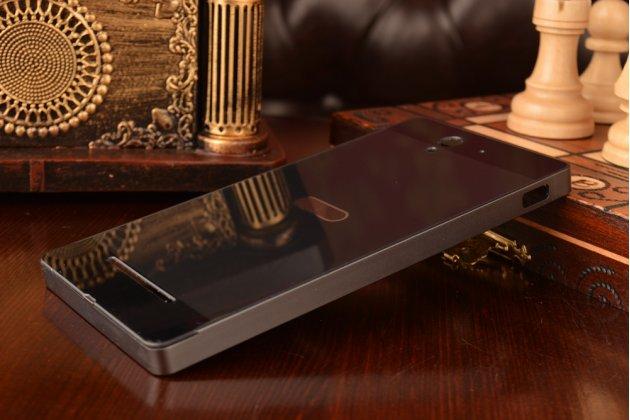 Фирменная металлическая задняя панель-крышка-накладка из тончайшего облегченного авиационного алюминия для Sony Xperia C3/C3 Dual Sim D2533 /D2502 /S55T/ S55U черная