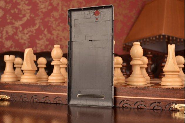 Родная оригинальная задняя крышка-панель которая шла в комплекте для Sony Xperia C3/C3 Dual Sim D2533/D2502/S55T/S55U черная