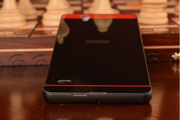 Фирменная металлическая задняя панель-крышка-накладка из тончайшего облегченного авиационного алюминия для Sony Xperia C4/ C4 Dual E5303 / E5333 черная