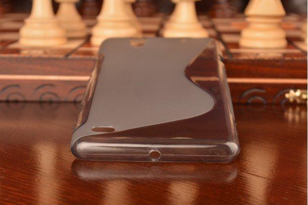 Фирменная ультра-тонкая полимерная из мягкого качественного силикона задняя панель-чехол-накладка для Sony Xperia C4/ C4 Dual серая