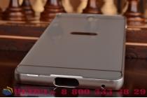 """Фирменная металлическая задняя панель-крышка-накладка из тончайшего облегченного авиационного алюминия для Sony Xperia C5 Ultra / C5 Ultra Dual E5533 E5563/ T4 Ultra 6.0"""" серебристая"""