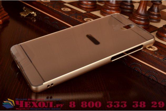 """Фирменная металлическая задняя панель-крышка-накладка из тончайшего облегченного авиационного алюминия для Sony Xperia C5 Ultra / C5 Ultra Dual E5533 E5563/ T4 Ultra 6.0"""" золотая"""