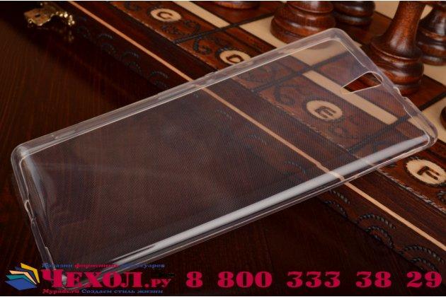 """Фирменная ультра-тонкая полимерная из мягкого качественного силикона задняя панель-чехол-накладка для Sony Xperia C5 Ultra / C5 Ultra Dual E5533 E5563/ T4 Ultra 6.0"""" белая"""