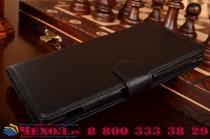 """Фирменный чехол-книжка из качественной импортной кожи с мульти-подставкой застёжкой и визитницей для Сони Экспириа С5 Ультра / С5 Ультра Дуал Е5533 Е5563/ Т4 ультра 6.0"""" черный"""