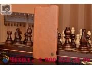 Фирменный премиальный элитный чехол-книжка из качественной импортной кожи с мульти-подставкой и визитницей для..