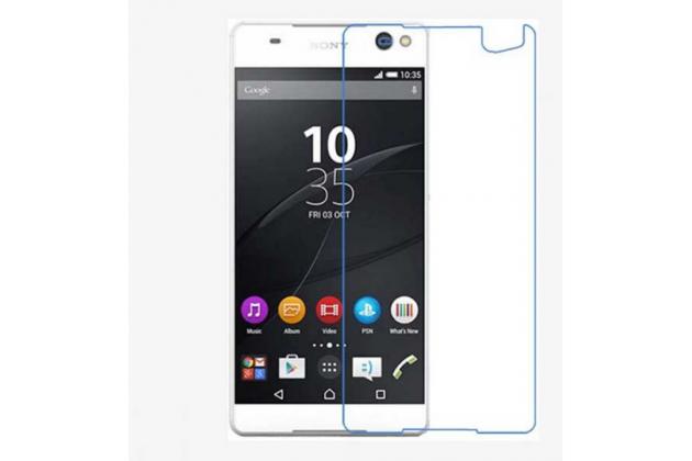 """Фирменная оригинальная защитная пленка для телефона Sony Xperia C5 Ultra / C5 Ultra Dual E5533 E5563/ T4 Ultra 6.0"""" глянцевая"""